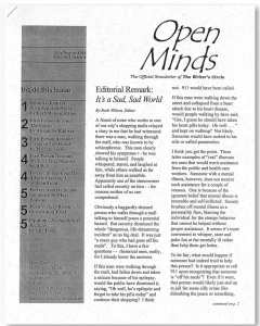 July/August 1998 Open Minds Newsletter