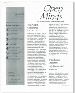 March/April 1998 Open Minds Newsletter