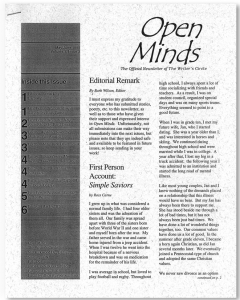 May/June 1998 Open Minds Newsletter